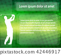 golfer silhouette over abstract background 42446917