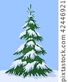 Winter Landscape, Fir Tree 42446921