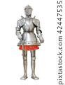 Medieval knight armour over white isolated  42447535