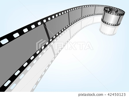 Close Up Movie Photography 35mm Negative Template Vector 3d