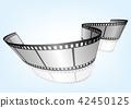 特寫電影 / 攝影 35mm 底片模板,向量3D元素 42450125
