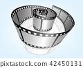特寫電影 / 攝影 35mm 底片模板,向量3D元素 42450131