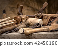 Vintage woodworking tools, stylized hdr image 42450190