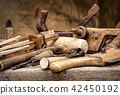 Vintage woodworking tools, stylized hdr image 42450192