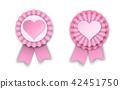 pink, vector, rosette 42451750