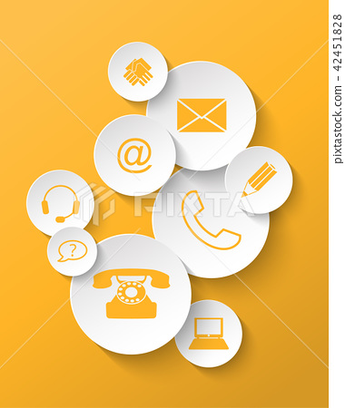 contact icons 42451828