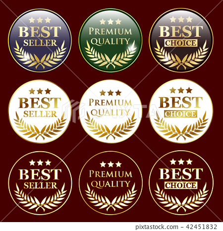 bestseller and quality sign badges 42451832