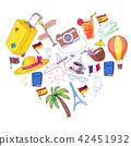 travel, hat, palm 42451932