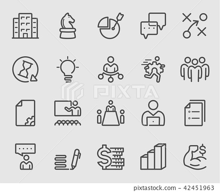 Line icons set for business strategy, Team, Succes 42451963