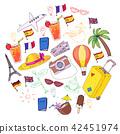balloon, airplane, suitcase 42451974
