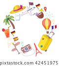 travel, hat, palm 42451975