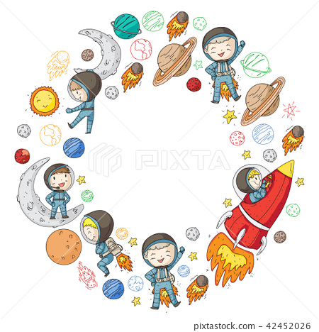 Space for children  Kids and cosmos exploration  Adventures, planets