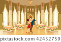 Vector ballroom, hall with dancers in palace 42452759