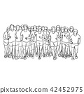people running together vector illustration  42452975