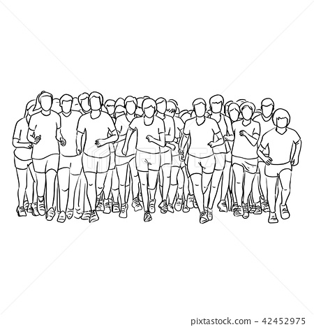 people running together vector illustration  42452975
