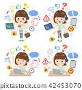 mischievous young  women_mulch task office 42453070