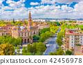 Seville, Spain cityscape with Plaza de Espana 42456978