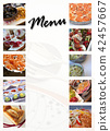 Dishes on a menu 42457667