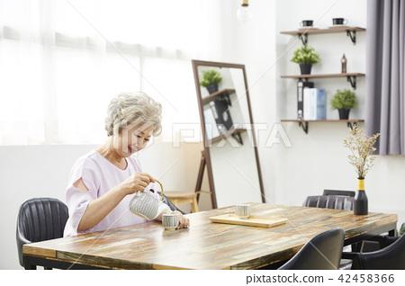생활,여자,노인,한국인 42458366