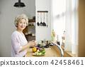생활,여자,노인,한국인 42458461