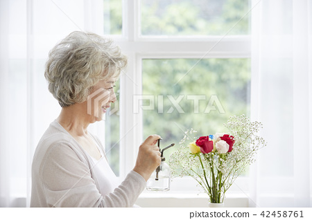 Life, woman, old man, Korean 42458761
