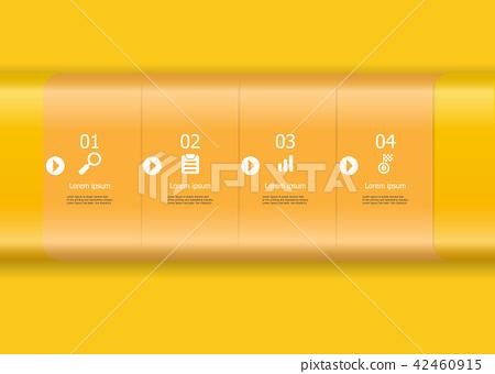 yellow horizontal bar infographics element 42460915
