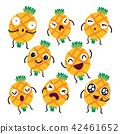 pineapple character vector design 42461652