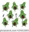 avocado character vector design 42461660