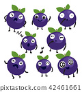 blueberry character vector design 42461661