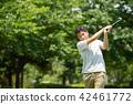 미들 남성 골프 스포츠 골프장 이미지 42461772