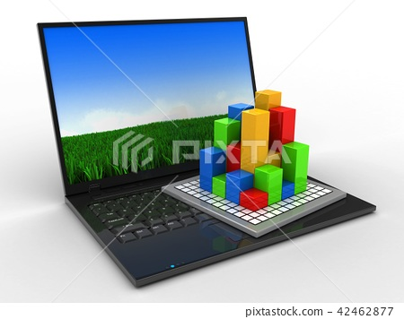 3d illustration of laptop computer with diagram stock illustration computer parts diagram 3d illustration of laptop computer with diagram