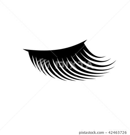 Woman eyelash icon illustration 42463726