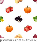 Seamless pattern with vegetables. 42465437