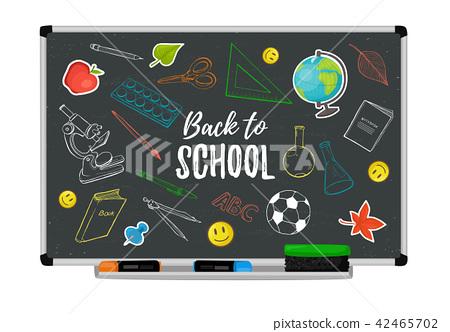 school blackboard vector 42465702