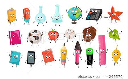 school objects vector collection 42465704