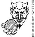 Devil Golf Sports Mascot 42466598