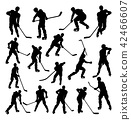 Hockey Player Silhouettes 42466607