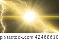 flash of lightning, lightning, gleam 42468610
