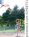 Basketball jump practice 42468711