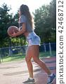 Basketball jump practice 42468712