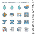 water treatment icon 42469237