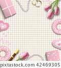 Romantic background, inspired by flat lay style 42469305