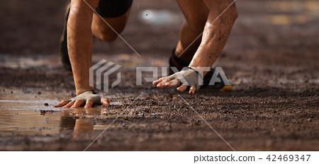 Mud race runners 42469347