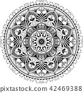 illustration tangle mandala 42469388
