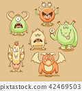 Monsters cartoon set 42469503