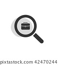 Magnifying glass looking for employment web icon 42470244