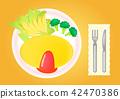 요리 아침 식사 (오믈렛 AI / EPS) 42470386