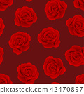 Red Rose on Red Background 42470857