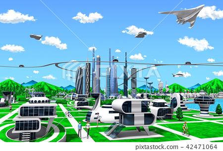 未來城市 城市風光 城市景觀 42471064