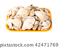 Container with fresh mushrooms 42471769